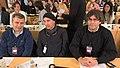 El cap de llista al Congrés per Girona, Jordi Xuclà, amb Lluís Llach i l'alcalde de Girona, Carles Puigdemont, a la Marató de TV3 (23621713082).jpg