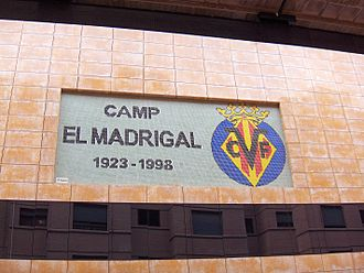 Estadio de la Cerámica - Plaque at the stadium's exterior