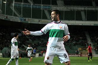 Sergio León - León playing for Elche in 2016