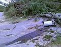 Electrical transformer damaged by 2011 tornado; Brimfield, MA.jpg