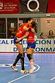 Eli Chávez y Marta López - Jornada de las Estrellas de Balonmano 2013 - 01.jpg