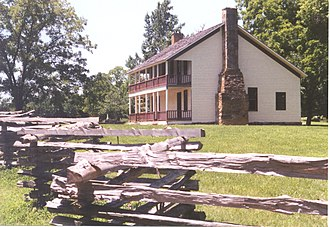 Pea Ridge National Military Park - Elkhorn Tavern, center of day two's fighting