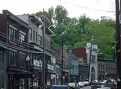 The Ellicott City Historic District's Main Street in May 2006.