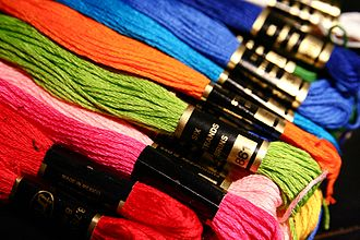 Thread (yarn) - Multi-colored stranded embroidery floss