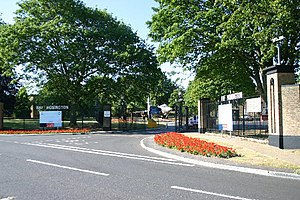 RAF Honington - The main entrance to RAF Honington.