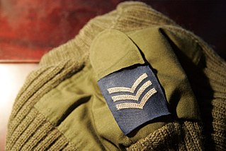 Shoulder mark flat cloth sleeve worn on the shoulder strap of a uniform