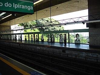 Line 2 (São Paulo Metro) - Platform for Santuário Nossa Senhora de Fátima-Sumaré