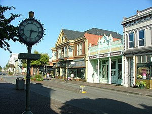Old Town Eureka - Image: Eureka Old Town and Clock