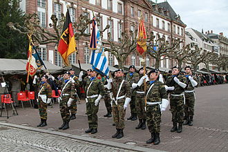 Eurocorps - A parade of the corps in Strasbourg, 2013