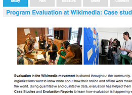 Evaluation at Wikimedia screenshot-Evaluation portal.png