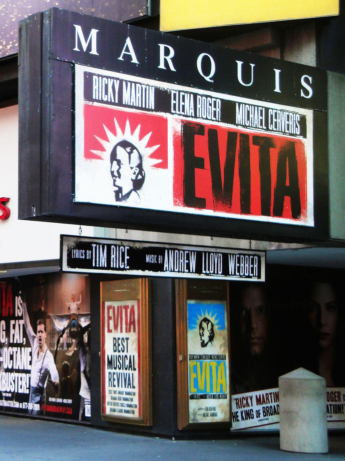 Evita (musical) - Wikipedia, la enciclopedia libre
