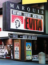 Evita en el Marquis Theatre de Broadway.jpg