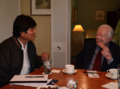 Evo Morales and Jimmy Carter in La Paz.png