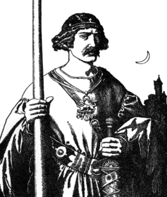 Ywain - Howard Pyle's illustration from The Story of Sir Launcelot and His Companions (1907)