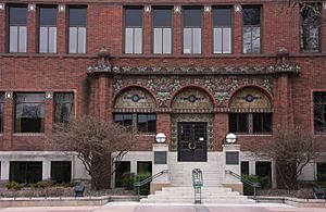 Federated Mutual Insurance Company - Entrance to the Federated Mutual Insurance Company Executive Office Building in Owatonna, Minnesota