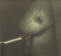 Expérience de Cutler (1931), observation d'un sein par transillumination.png
