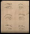 Eyes expressing extreme emotion, from coldness to rage. Draw Wellcome V0009231.jpg