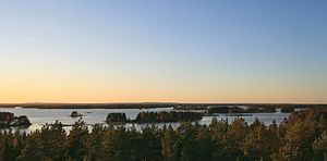 Färnebofjärden National Park - Image: Färnebofjärden view from Skekarsbo tower