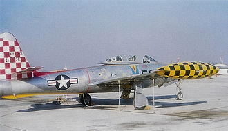 Neubiberg Air Base - Republic F-84E-5-RE Thunderjet Serial 49-2133 of the 527th Fighter-Bomber Squadron