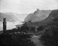 F. Sødring - View of Oberwesel and the Rhine. Germany - KMS394 - Statens Museum for Kunst.jpg