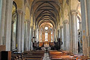 Abbey of Saint-Pierre Mozac - The interior of Mozac Abbey Church