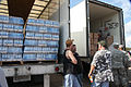 FEMA - 37979 - Water and food distribution center with National Guard in Louisiana.jpg
