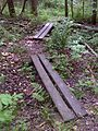 FLT M17 14.1 mi - Two puncheons, two 2x6's, 8' long, RR tie sills - panoramio.jpg