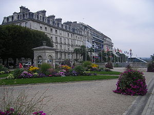 Boulevard des Pyrénées - Buildings lining the northern side of the boulevard.
