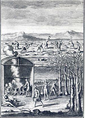 Joseph-François Lafitau - Image: Fabrication du sirop d'érables par les Amérindiens en Nouvelle France (XVII Ie siècle)