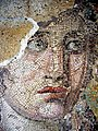 Face of Dionysos (detail), mosaic of the House of Dionysos, Delos, Greece, 2nd century BC.jpg