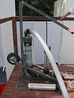 Faecal sludge pumping device with manual pumping (no motor) (13358911785).jpg