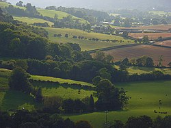 Farmland and woodland, Comley - geograph.org.uk - 1005560.jpg
