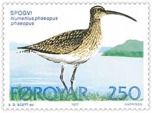 Faroe stamp 024 whimbrel