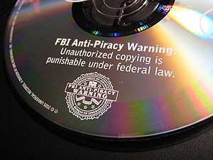 English: DVD displaying the embossed FBI Anti-...