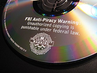 Symbols of the Federal Bureau of Investigation - Image: Fbi anti piracy warning