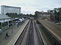 Feltham station high eastbound.JPG
