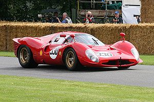 Peter Sutcliffe (racing driver) - Similar to the factory 330P4, but with a detuned engine: customer Ferrari 412P (chassis 0844) at the 2007 Goodwood Festival of Speed