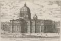 Fianco della Basilica Vaticana et sua magnifica veduta con la Cuppola secondo il disegno di Michelangelo Bonaroti by Giovanni Battista Falda (1667-1669).png
