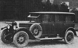 Fiat 519 - Fiat 519 A Sedan 1924