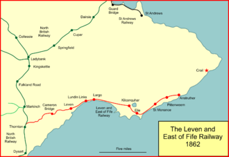 The Leven and East of Fife Railway in 1862 Fife coast rly 1862.png