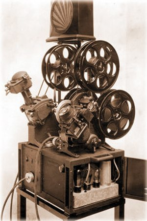 Film editing - The original editing machine: an upright Moviola.