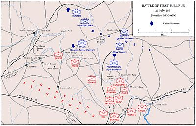 First Battle Of Bull Run Wikipedia - Us map civil war battles