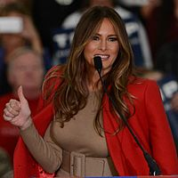 First Lady Melania Trump speaking in 2015 (cropped).jpg