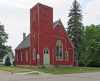 National Register of Historic Places listings in Huron County, Michigan - Image: First Methodist Episcopal Church Port Hope MI
