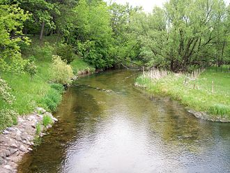 Fish Hook River - The Fish Hook River in Park Rapids in 2007