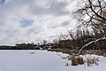 Fish Lake - Snow-Covered and Frozen in Winter - Maple Grove, Minnesota (26596302458).jpg
