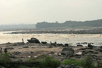 Kinshasa - Down at the banks of the Congo River in Ngaliema commune.