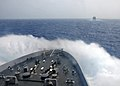 Flickr - Official U.S. Navy Imagery - Waves break over the bow of USS New York..jpg