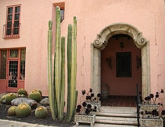 Ganna Walska - Mansion entrance at Lotusland