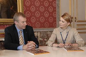 Belgium–Ukraine relations - Prime Minister Yulia Tymoshenko meeting Prime Minister Yves Leterme in 2008